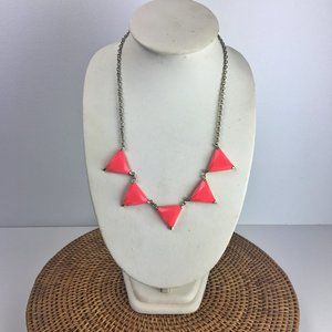 Hot pink triangle necklace